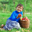 Boy with apples — Stock Photo #2239197