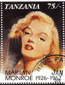 Stamp with actress Marilyn Monroe — Stock Photo