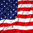 flapping flag usa with wave — Stock Photo