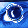 Scan eye for security or identification - Stock Photo