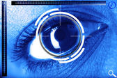 Scan eye for security or identification — Stock Photo