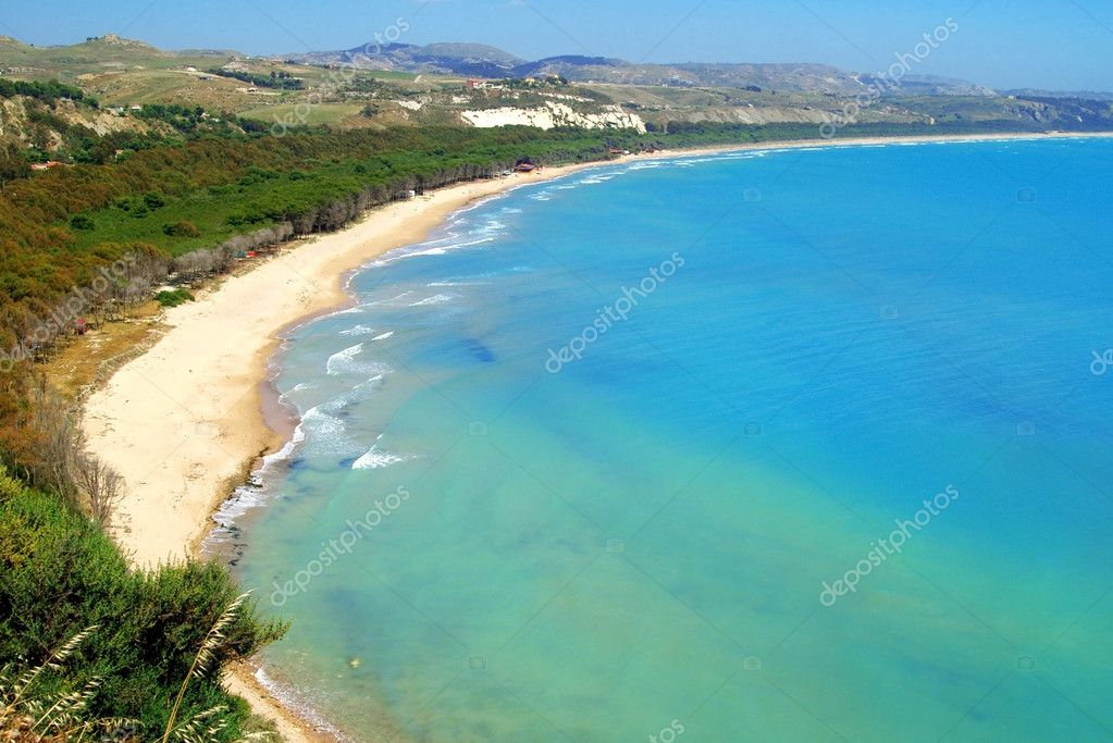 Classic Italy  - Sicily, coast near Eraclea city  Stock Photo #2259969