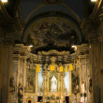 Inside classical christian church — Stock Photo