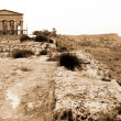 Greek temple Agrigento, Sicily - Stok fotoraf