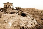 Greek temple Agrigento, Sicily — Stock Photo