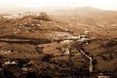 Classic old Italy ,Sicily, Enna city — Stock Photo