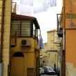 Old Italy ,Sicily, street in Enna city — Stock Photo