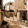 Old Italy ,Sicily, Milazzo city - Stock Photo