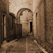 Old Italy ,Sicily, fog in Eriche city — Stock Photo #2277360