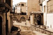 Old Italy ,Sicily, Milazzo city — Stock Photo