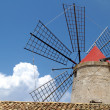 Old Italy ,Sicily, windmill — Stock Photo