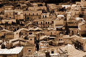 Old Italy; Sicily, Modica city — Stock Photo