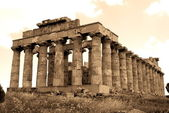 Old Italy, Greek temple in Selinute — Stock Photo