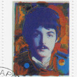 Stock Photo: Stamp shows Paul McCartney
