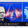 Stock Photo: Stamp Winston Churchill