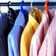 Mix color Shirt and Tie on Hangers — Stock Photo #2308816