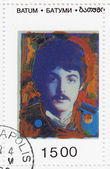 Stamp shows Paul McCartney — Stock Photo