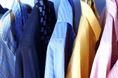 Mix color Shirt and Tie on Hangers — Stockfoto
