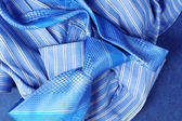 Blue Shirt and Tie — Stock Photo