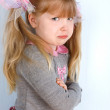 Little girl taking great offence — Stock Photo
