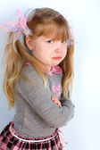 Little girl taking great offence — Stockfoto