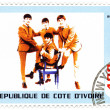 Постер, плакат: Stamp shows the Beatles