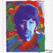 ������, ������: Stamp shows Ringo Starr from The Beatles