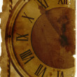Vintage paper with old clock — Stock Photo