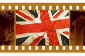 35mm con la vieja bandera del reino unido — Foto de Stock