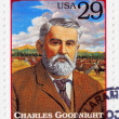 Постер, плакат: Stamp show Charles Goodnight