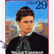 Stamp  show Nellie Cashman — Stock Photo