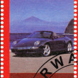 Stamp shows Porshe 911 - Stock Photo