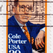 Stamp shows Cole Porter — Stock Photo