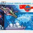 Stamp shows the soviet spaceship — Stock Photo