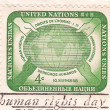 Stamp shows Human Rights Day — Stock Photo