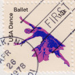 Stamp shows American Ballet — Stock Photo