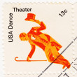 Stamp with dancer — Stock Photo
