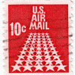 Royalty-Free Stock Photo: Stamp hows US Air Mail