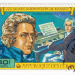 Stamp shows Wolfgang Amadeus Mozart — Stock Photo #2436324