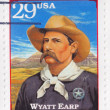Stamp shows Wyatt Earp - Stock Photo