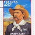Stamp shows Wyatt Earp — Stock Photo