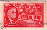 Stamp shows Franklin Delano Roosevelt — Foto Stock