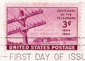Stamp shows Centenary Of The Telegraph — Stock Photo