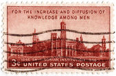 Stamp shows Smithsonian Institution, — Stock Photo