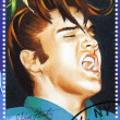Постер, плакат: Stamp show singer Elvis Presley
