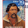 Постер, плакат: Stamp shows Jim Beckwourth