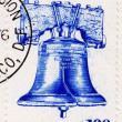 Stamp with Philadelphia Liberty Bell — Stock Photo