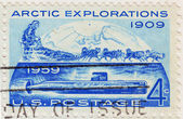 Stamp of Arctic Explorati — Stock Photo