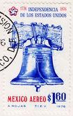 Stamp with Philadelphia Liberty Bell — Stock Photo