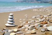 Sahil çakıl yığını — Stok fotoğraf